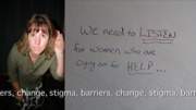 Stigma Barriers Change video still Crossing Communities Art Project